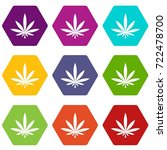 cannabis leaf icon set many... | Shutterstock .eps vector #722478700