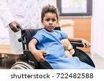 portrait of pensive african... | Shutterstock . vector #722482588