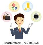 businessman who assesses brand... | Shutterstock .eps vector #722483668