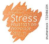 conceptual mental stress at... | Shutterstock . vector #722486104