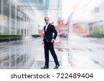 modern businessman confident... | Shutterstock . vector #722489404