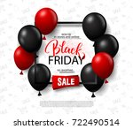 black friday sale background... | Shutterstock .eps vector #722490514