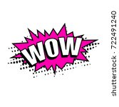 comic speech bubble with... | Shutterstock .eps vector #722491240