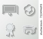 football icons   paper  set | Shutterstock .eps vector #722494693