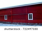 Old Red Wooden Outbuilding Wit...
