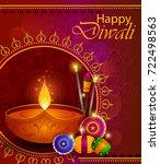 happy diwali light festival of... | Shutterstock .eps vector #722498563