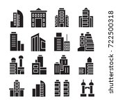 vector set of building icons | Shutterstock .eps vector #722500318