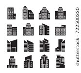 vector set of building icons | Shutterstock .eps vector #722500330