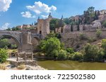 alcazar and alcantara bridge of ... | Shutterstock . vector #722502580