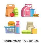 school lunches in special... | Shutterstock .eps vector #722504326