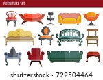 furniture sofa couch  chair and ... | Shutterstock .eps vector #722504464