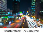 blurred traffic night in city... | Shutterstock . vector #722509690