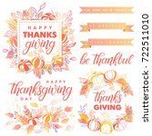 thanksgiving day typography... | Shutterstock .eps vector #722511010