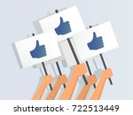 vector illustration of hands... | Shutterstock .eps vector #722513449