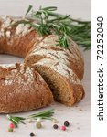 Tasty Finnish rye bread - stock photo
