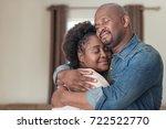 affectionate african couple...   Shutterstock . vector #722522770