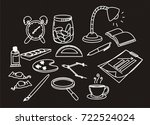 back to school doddle style on...   Shutterstock .eps vector #722524024