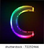 vector alphabet. disco letter c