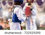 moment of taekwondo kids in the ...   Shutterstock . vector #722525350