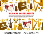 musical instruments poster of... | Shutterstock .eps vector #722526874