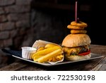 gourmet craft bacon... | Shutterstock . vector #722530198
