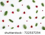 christmas card. christmas fir... | Shutterstock . vector #722537254