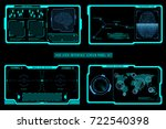 hud futuristic elements screen... | Shutterstock .eps vector #722540398