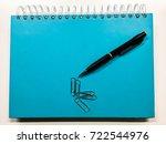 pencil   notebook   clips | Shutterstock . vector #722544976