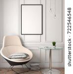mockup poster in the interior ... | Shutterstock . vector #722546548