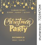 christmas party poster template.... | Shutterstock .eps vector #722547244