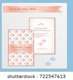 luxury wedding invitation... | Shutterstock .eps vector #722547613
