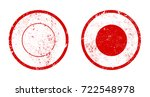 round vector grunge stamps... | Shutterstock .eps vector #722548978