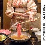 matsusaka beef a5 wagyu beef... | Shutterstock . vector #722551828