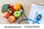 diabetes monitor  cholesterol... | Shutterstock . vector #722552959