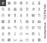 law and justice line icons set  ... | Shutterstock .eps vector #722556760
