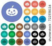 halloween pumpkin multi colored ... | Shutterstock .eps vector #722558116
