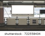billboard with white screen for ... | Shutterstock . vector #722558434