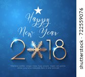 happy new year 2018 text design.... | Shutterstock .eps vector #722559076