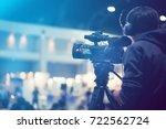 professional video technician... | Shutterstock . vector #722562724