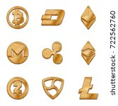 golden crypto currency symbol... | Shutterstock .eps vector #722562760