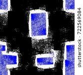 grunge blue seamless pattern.... | Shutterstock . vector #722569084