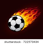 soccer or football ball with... | Shutterstock .eps vector #722573434