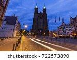 church of the virgin mary in... | Shutterstock . vector #722573890