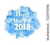 happy new year 2018 vector... | Shutterstock .eps vector #722575540