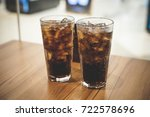beverage with ice  | Shutterstock . vector #722578696
