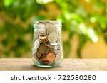 save money for investment... | Shutterstock . vector #722580280