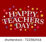 postcard happy teachers day | Shutterstock .eps vector #722582416