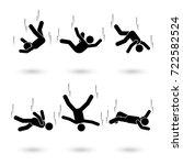 falling man stick figure...   Shutterstock .eps vector #722582524