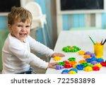 kids playroom organization of... | Shutterstock . vector #722583898