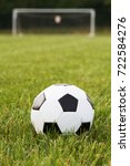 soccer ball and goal | Shutterstock . vector #722584276